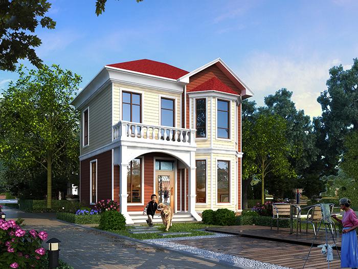 水库搬迁安置统归自建房屋设计效果图