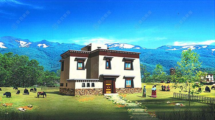 云南藏族民居,迪庆藏族房屋,藏族风格民居房屋,藏族